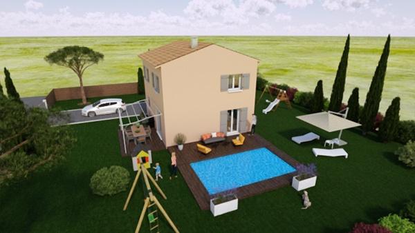 terrain + maison Pierrefeu