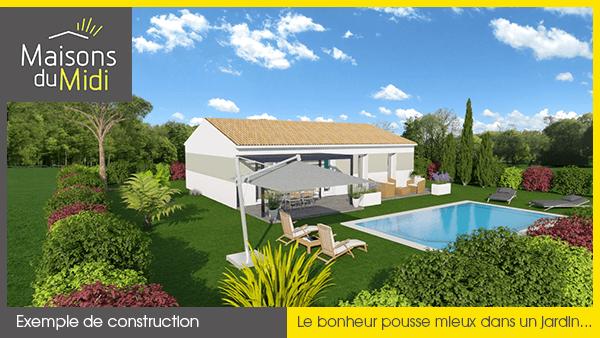 Construction maison avec jardin
