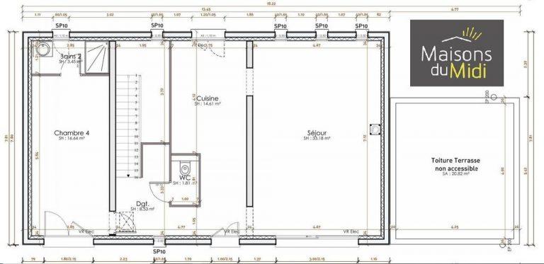 Plan maison neuve Alpe Maritimes