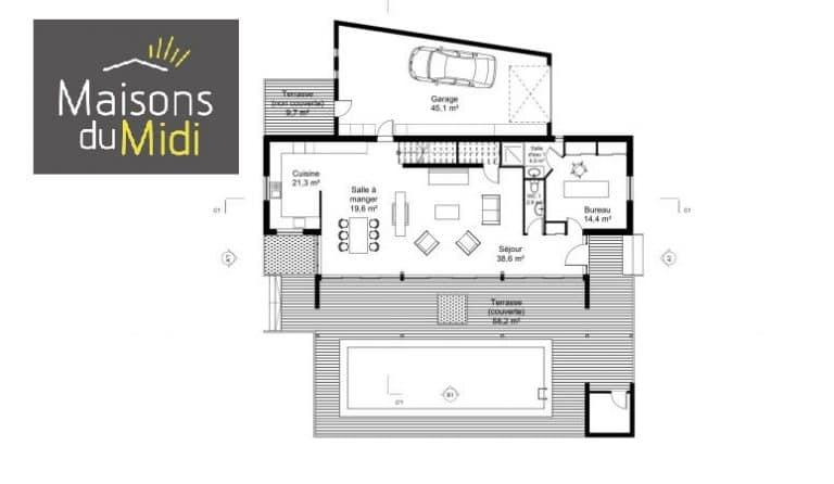 Plan maison Roquefort Les Pins