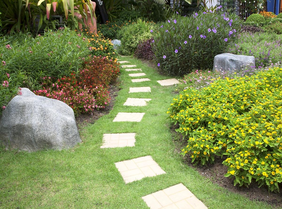 Délimiter espace jardin