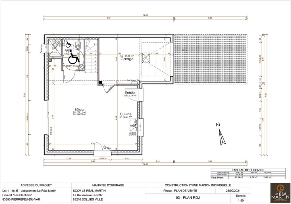 Plan maison Lot 1