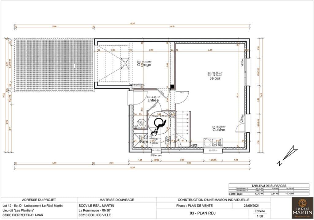 Plan maison lot 12